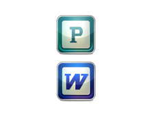 Word Publisher icons